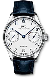 IWC Portuguese Automatic Steel Blue Mens Watch IW500107