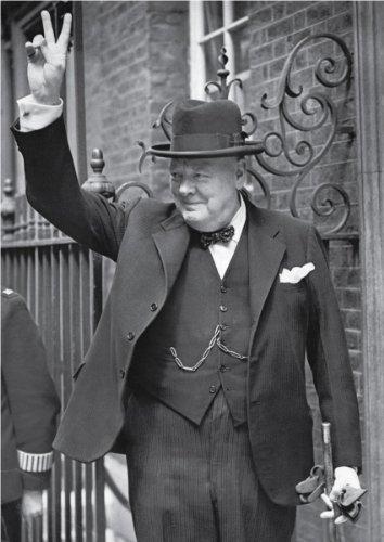 Winston Churchill - V for Vistory, 1943 - Vintage Photo Art Print (10