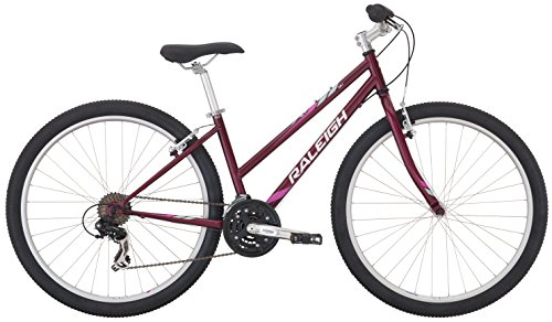 RALEIGH Bikes Women's Eva 1 Recreational Mountain Bike, Red, 17'/Medium