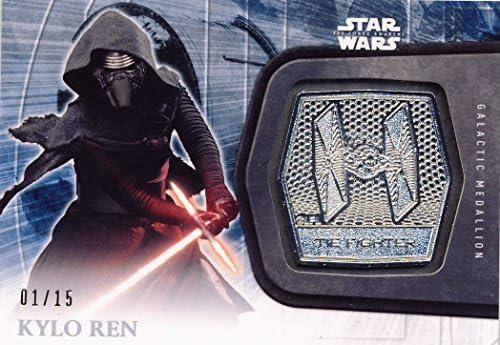 94464fdb8 2016 Topps Star Wars: The Force Awakens Series 2 Platinum Medallion #12  Kylo Ren 01/15 at Amazon's Entertainment Collectibles Store