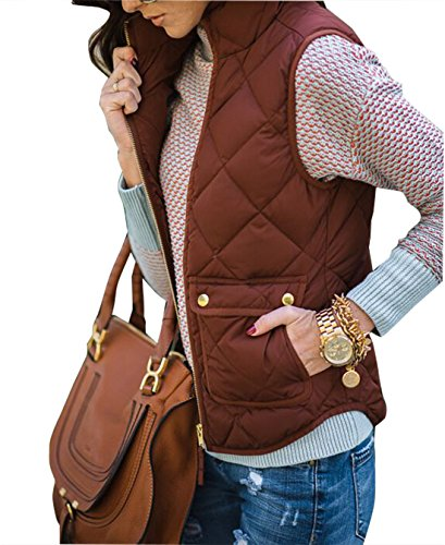 Quilted Side Zip Vest - 1
