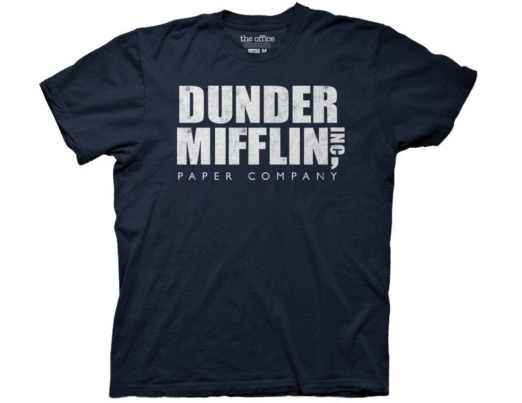 The Office Adult Unisex Dunder Mifflin Vintage Heavy Weight 100 Crew Tshirt