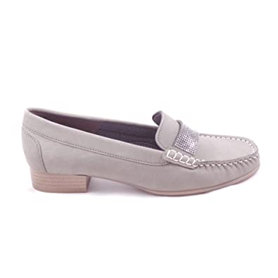 0ab95e89049 Jenny Atlanta 22-50164 Grey Nubuck Moccasin Shoe  Amazon.co.uk  Shoes   Bags