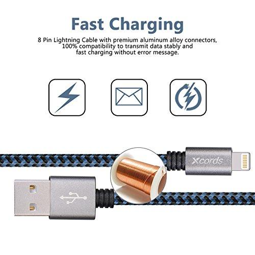 Xcords Tm 3pack 6ft Nylon Braided Lightning To Usb