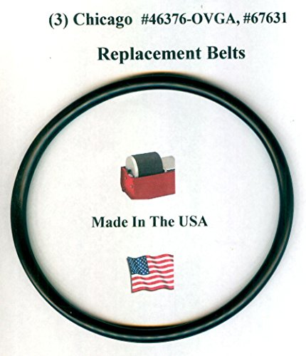 Replacement Drive Belts for Chicago #67631 Rock Tumbler- 3 pack