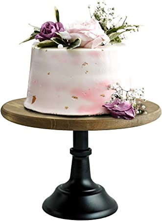 NHOUYAO Blanc Fer M/étal g/âteau gu/éridon Socle de Petit g/âteau Pr/ésentoir Dessert Porte Bakeware de f/ête danniversaire de Mariage D/écoration