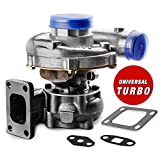 New Universal Turbo Exact Fit Turbocharger for Ford Chevy Toyota Nissan Tundra Dodge and etc, [Easy Installation] 1 Year Warranty T04E T3/T4 .63 A/R 57 TRIM TURBO COMPRESSOR 400+HP BOOST STAGE III