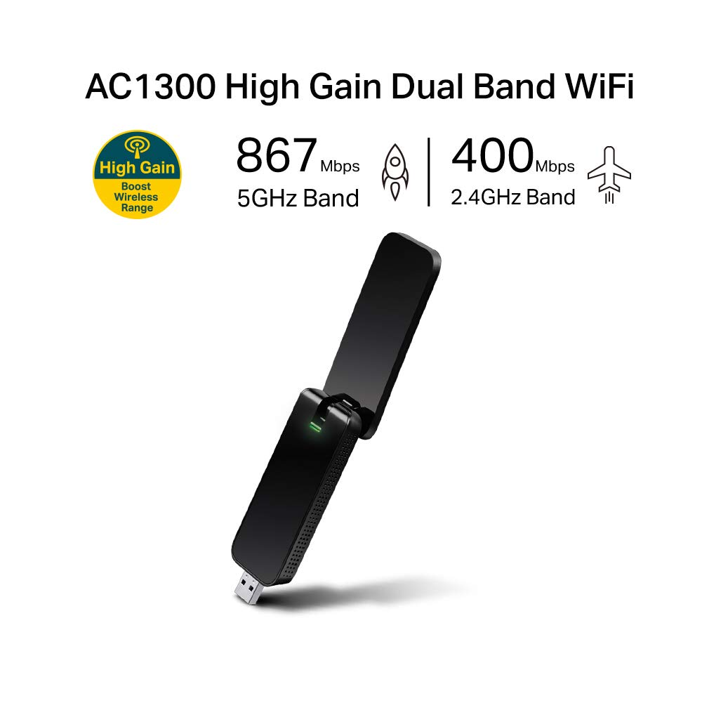 TP-LINK AC1300 Wireless Wi-Fi USB 3 0 Adapter (Archer T4U V2