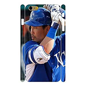 Deluxe Sports Series Designer Print Baseball Player Print Phone Shell Skin for Iphone 6 Plus Case - 5.5 Inch by mcsharks