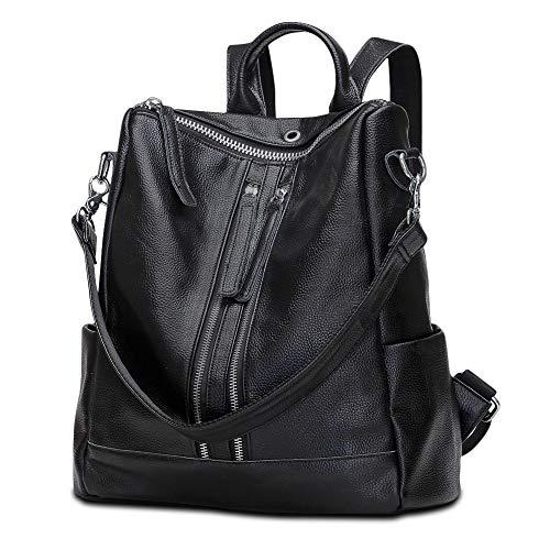 Modoker Travel Backpack Purse for Women Convertible Leather Shoulder Weekender Bag (Black) (Best Deal On School Backpacks)