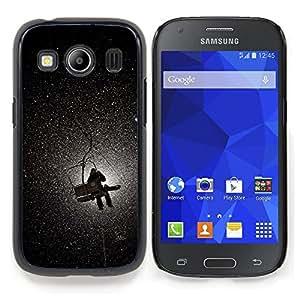 For Samsung Galaxy Ace Style LTE/ G357 Case , Montaña Luna Ascensor nieve del invierno - Diseño Patrón Teléfono Caso Cubierta Case Bumper Duro Protección Case Cover Funda