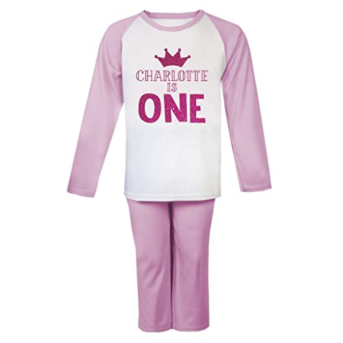 8c6733f1c8 Personalised Name is Age Birthday Pyjamas Personalised Pjs Girls Personalised  Birthday Pyjamas Girls ANY NAME AND AGE  Amazon.co.uk  Handmade