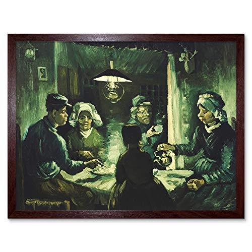Van Eaters Gogh The Vincent Potato (Vincent Van Gogh The Potato Eaters Art Print Framed Poster Wall Decor 12x16 inch)