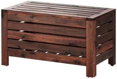 IKEA ÄPPLARÖ Baúl para banco (muebles de jardín de fácil mantenimiento), 80 cm de ancho