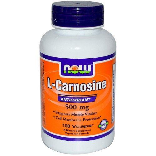 NOW Foods L-Carnosine 500 mg, Veggie Caps-100 ea