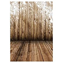 SODIAL(R) 3X5FT Wood Wall Floor Vinyl Photography Backdrop Photo Background Studio Props