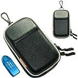 New first2savvv heavy duty black camera case for panasonic LUMIX DMC-TZ60 with card reader