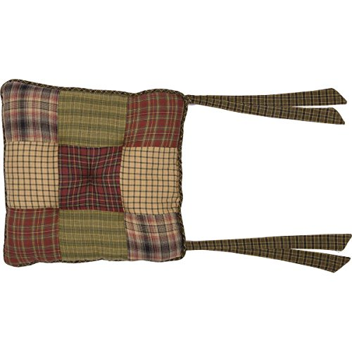 (VHC Brands 8248  Tea Cabin Chair Pad Patchwork)