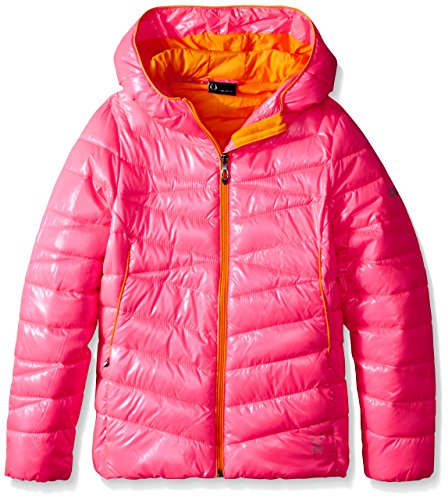Hooded Bryte Puffer Girls' Big Timeless Coat Down Spyder Bubblegum n47qxn