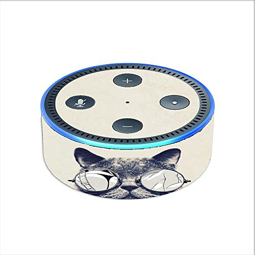 Skin Decal Vinyl Wrap for Amazon Echo Dot 2 stickers skins cover (2nd generation) / Cool Cat Kat Shades Glasses Tumblr