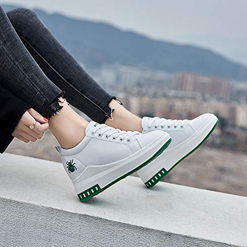 Shoes Bottom Women'S Lace Front KPHY Seven Muffin Thirty Student Gules Leisure Heighten Shoes Spring Joker tZzqzdxnwE
