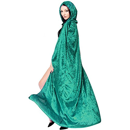 Green Lantern Costumes Pattern (Kharadin Halloween Hooded Cloak Velvet Costumes Cape 51, 47 or 21 inches)