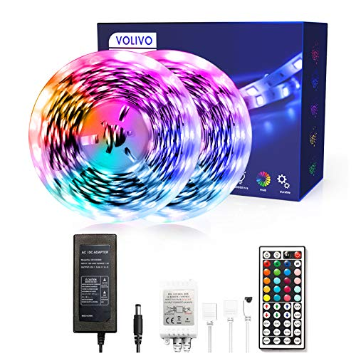 Volivo Led Lights for Bedroom with 44 Keys IR Remote