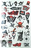 KABEER ART 75 Assorted Waterproof Temporary Body Tattoos Stickers for Children :- Theme - PIRATES