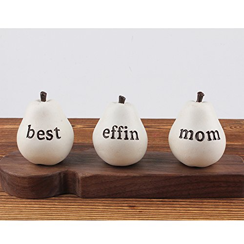 - The Talking Fruit Gift for Mom Best Effin Mom Pear Mom Gift from Daughter Set of 3 Pears