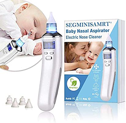 Baby Nasal Aspirator Electric Nose Snot Sucker Nostril Cleaner USB Charge Pumps
