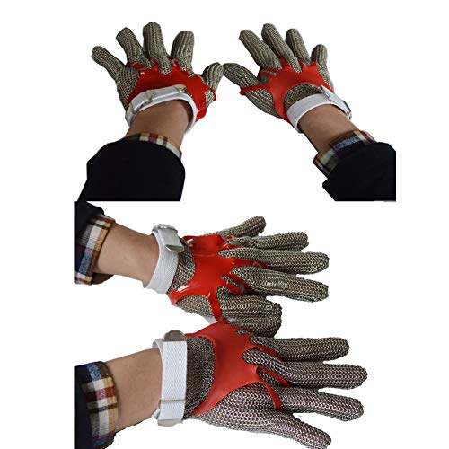 ZHANGZHIYUA Anself Cut Resistant Glove Stainless Steel Mesh Knife Cut Resistant Protective Glove by ZHANGZHIYUA (Image #4)