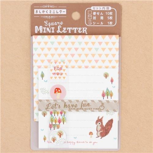 Mini carta da lettere scoiattolo animali Lemon dal Giappone Kawaii