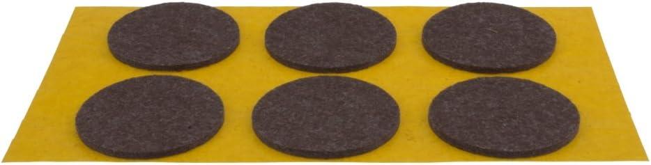 Filzgleiter selbstklebend braun /Ø 20 mm 28 St/ück