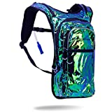 Vibedration Holographic Rave Hydration Pack | 2L Water Capacity | Music Festival Outfits, Perfect for Hiking & Camping (Iridescent) Review