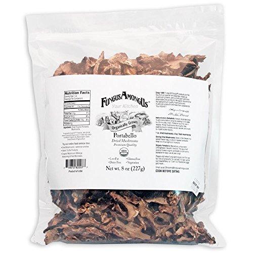 (Bulk Dried Organic Portobello Mushrooms - 8 oz - by FungusAmongUs )