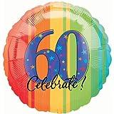 18 in. - 60th Year To Celebrate Metallic Balloon - Each