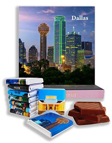 DA CHOCOLATE Candy Souvenir DALLAS Chocolate Gift Set 5x5in 1 box (Night - Galleria Dallas Texas