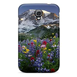 New Usa Washington Mt Rainier Np Spectacular Summer Display Of Wildflowers At Sunrise Cases Covers, Anti-scratch Swd12686QhKL Phone Cases For Galaxy S4