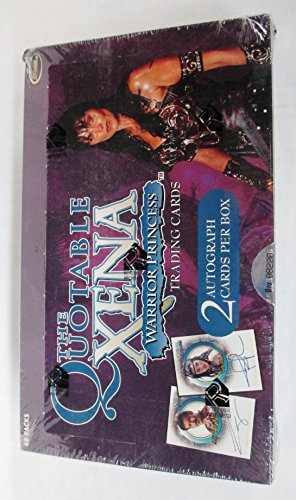 The Quotable Xena Warrior Princess Trading Cards Box Set - Includes 2 Autograph cards by Xena