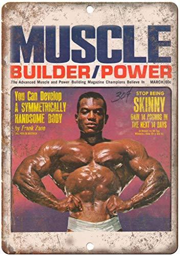 Muscle Builder Frank Zane - Placa de metal para construccion de musculo, diseno de Frank Zane