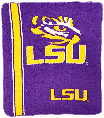 Jersey Sherpa Throw - The Northwest Company Officially Licensed NCAA LSU Tigers Jersey Sherpa on Sherpa Throw Blanket, 50