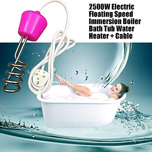 2500W Electric Floating Speed Immersion Boiler Bath Tub Water Heater Cable