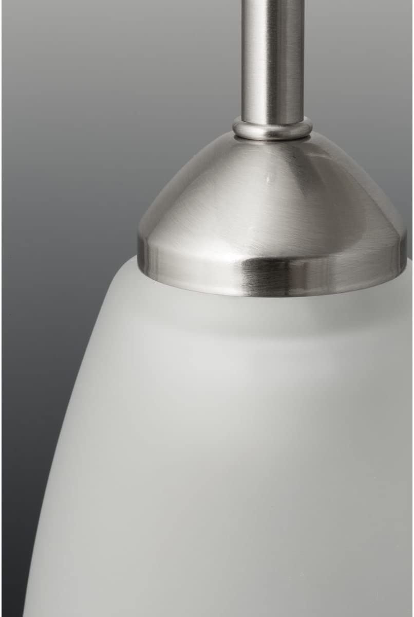 Progress Lighting P3914-09 2-100W MED Inverted Pendant, Brushed Nickel