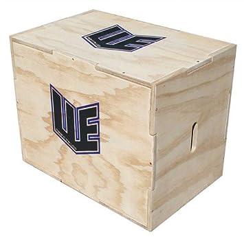 Amazon.com : 3-in-1 Plyo Box Wooden Mini Cube - 12-16-18 in ...