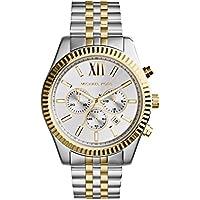 Michael Kors Lexington reloj en dos tonos para hombre, Estándar, Dos tonos