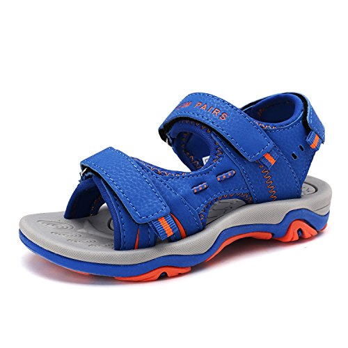 (DREAM PAIRS Little Kid 170891_K Royal Orange Fashion Athletic Sandals Size 12 M US Little Kid)