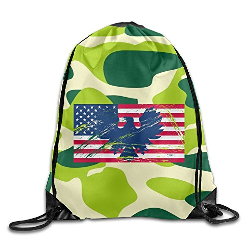 2018 Eagle's Flag Drawstring Bags Rowing Backpack For Teens College