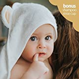 Luxury Baby Hooded Towel and Shampoo Rinser | 100% Natural Bamboo Towel | Soft & Super Absorbent Hooded Bath Towel by Hali Products