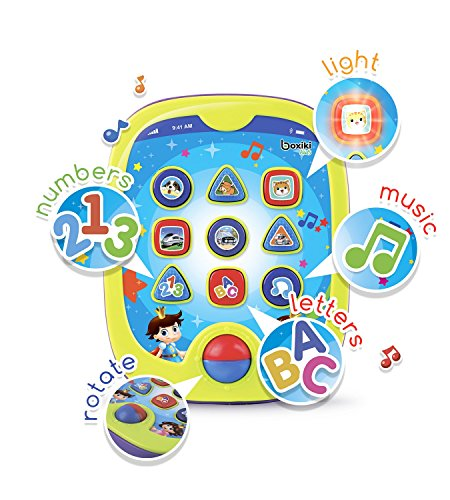 "Boxiki kids Smart Pad for Babies and Children Learning by Educational Toy for Infants with Kids' Learning Games. Learn Numbers, ABC Learning, ""Can You Find?"" Game, Music, Light Up Whack-a-Mole (Educational Pad)"