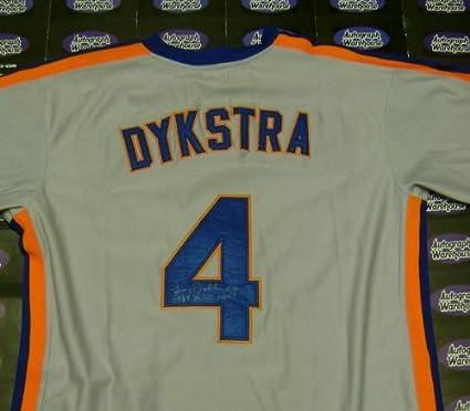 b17410ba38f9 Lenny Dykstra Signed Jersey - inscribed 1986 WSC Nails World Series ...
